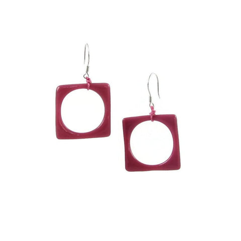 Hoyo Glass Earrings -Pink