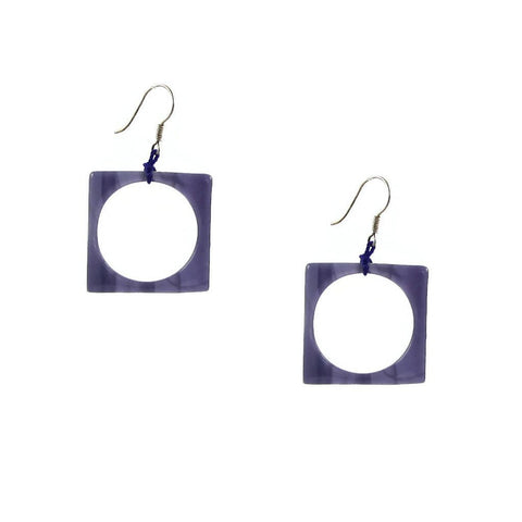 Hoyo Glass Earrings - Purple