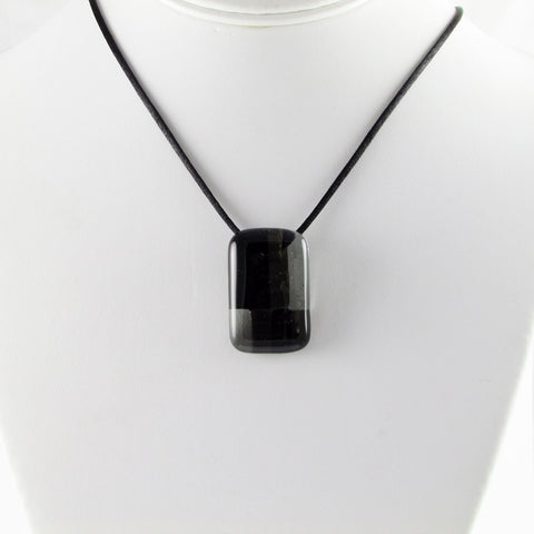 Spezi Mini Glass Pendant - Black