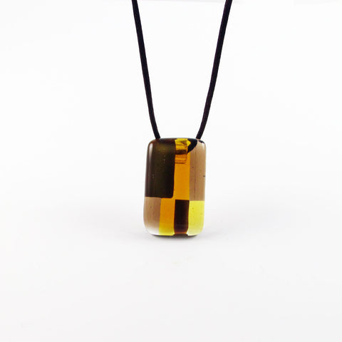 Spezi Mini Glass Pendant - Amber