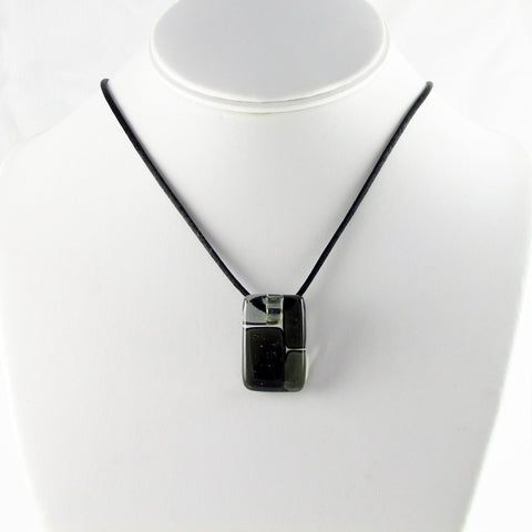 Cobblestones Mini Glass Pendant - Black