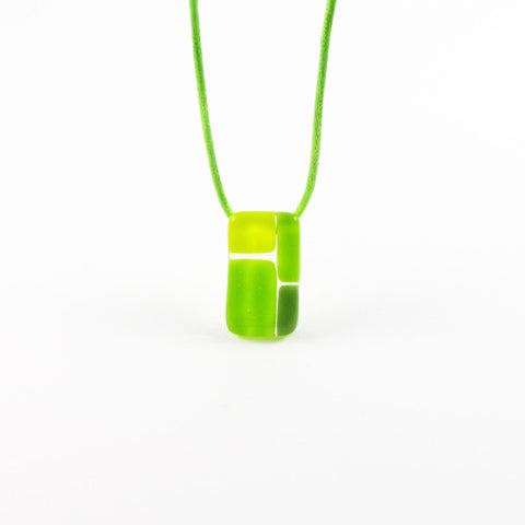 Cobblestones Mini Glass Pendant - Lime