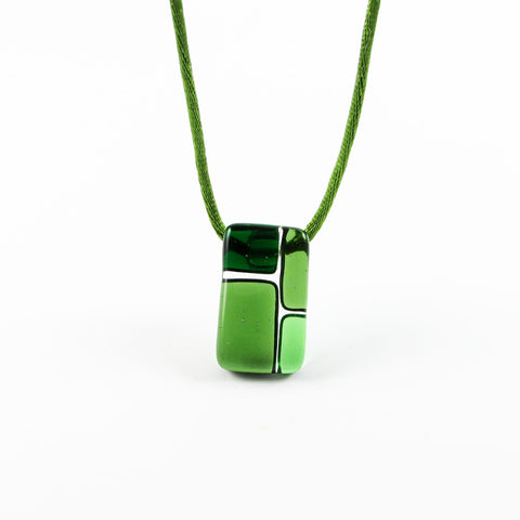 Cobblestones Mini Glass Pendant - Green