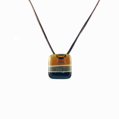 Shades Mini Glass Pendant - Amber