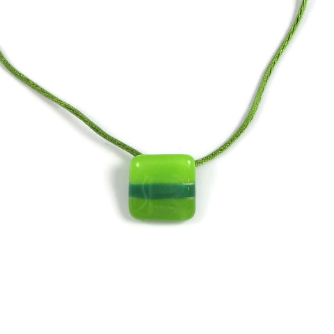 Shades Mini Glass Pendant - Lime