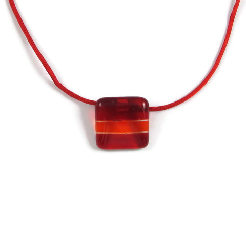 Shades Mini Glass Pendant - Red