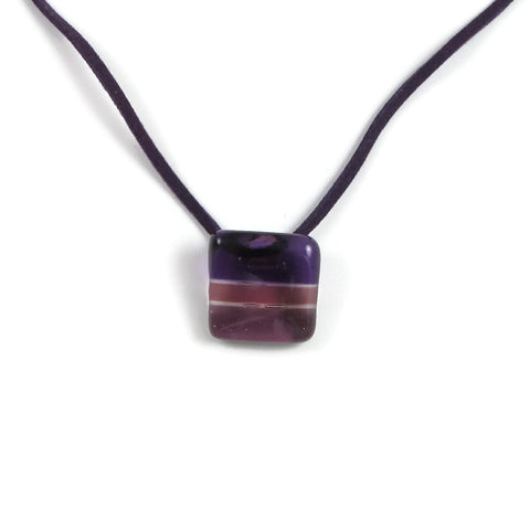 Shades Mini Glass Pendant - Purple