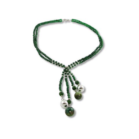 Malachite Lariat Necklace