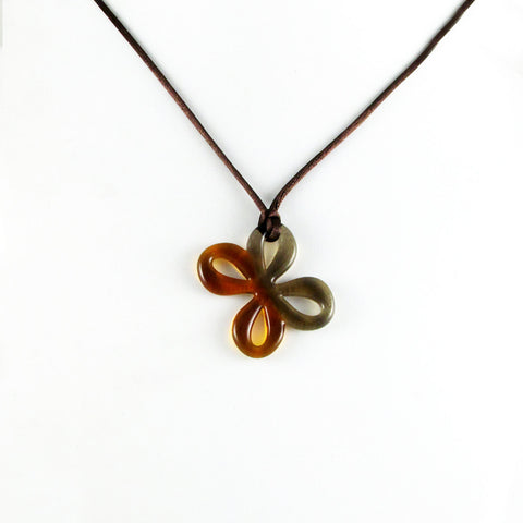 Mariposa Mini Glass Pendant - Amber