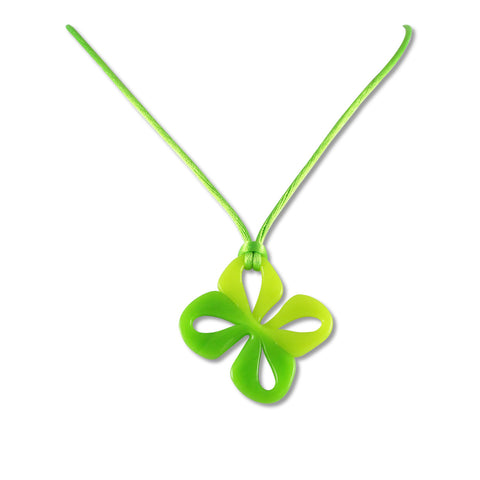 Mariposa Mini Glass Pendant - Lime