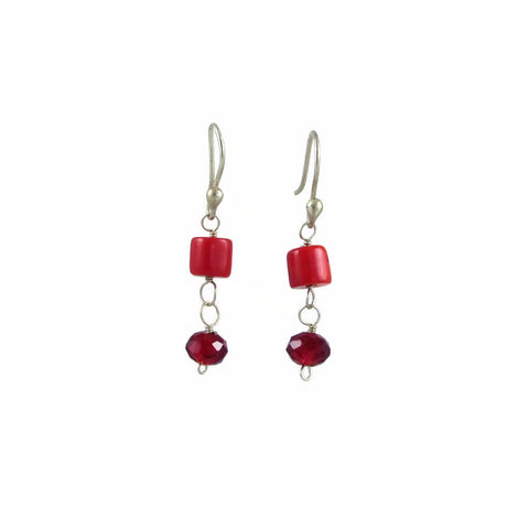 Julisa Earrings - Coral