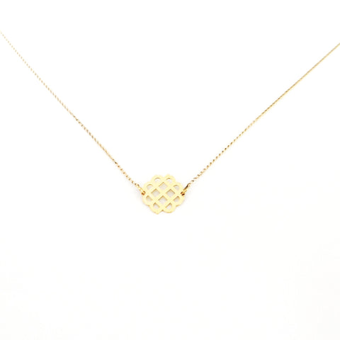 Gold Millie Logo Necklace - Mini