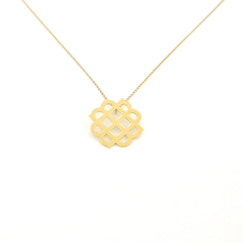 Gold Millie Logo Necklace - Large