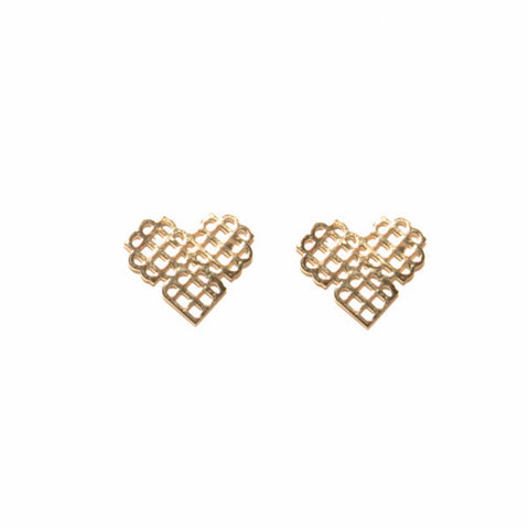 Millie Heart Stud Earrings