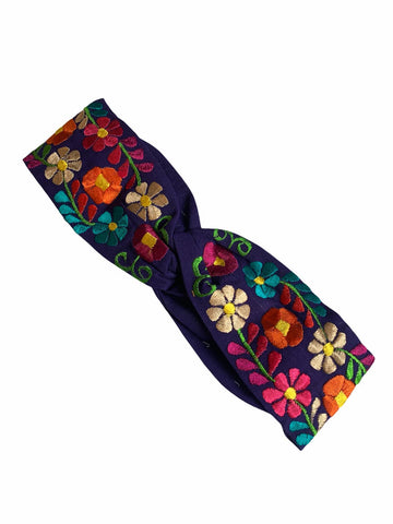 Floral, Embroidered Elastic Headbands