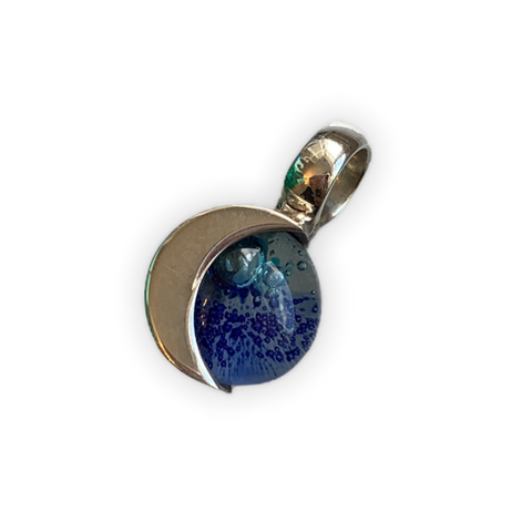 Blown Glass Moon Pendant