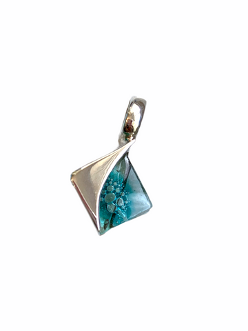 Blown Glass Square Pendant