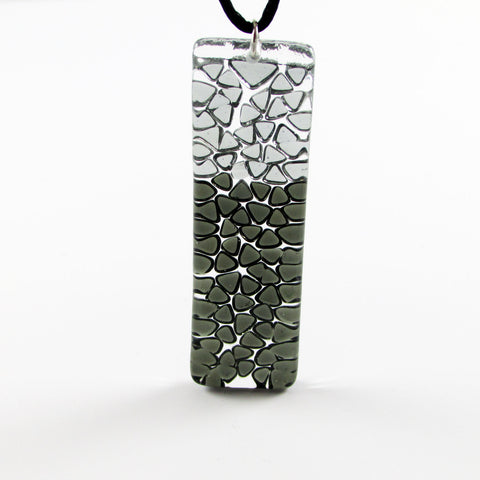 Picado Glass Pendant - Black