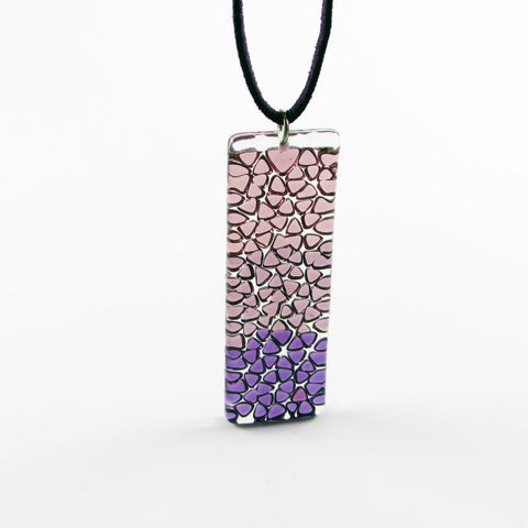 Picado Glass Pendant - Purple
