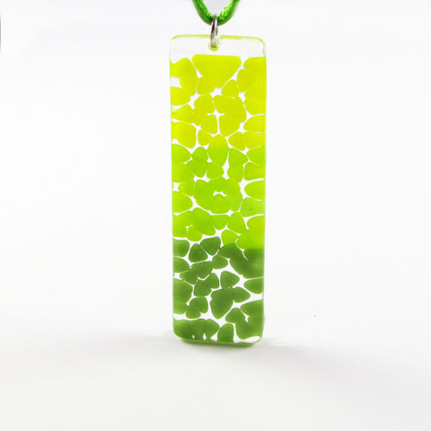 Picado Glass Pendant -Lime Green