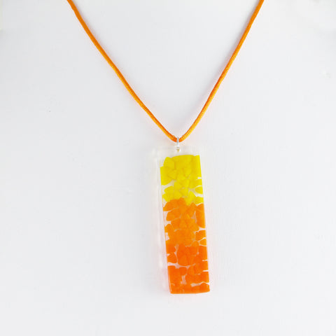 Picado Glass Pendant - Orange
