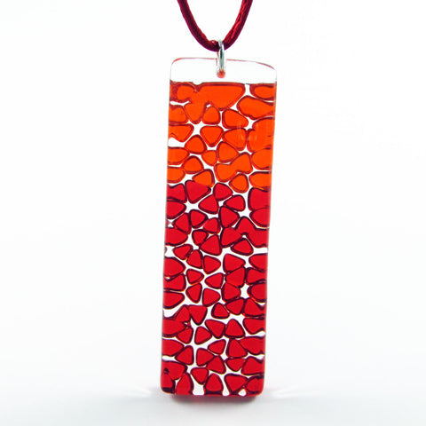 Picado Glass Pendant - Red