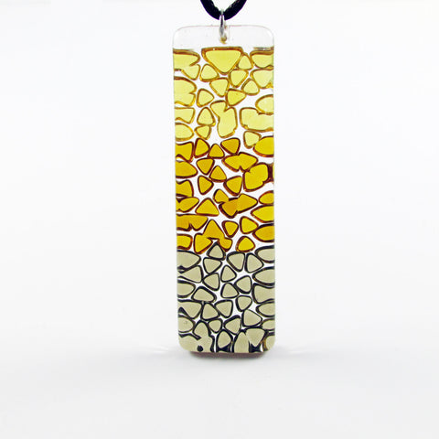 Picado Glass Pendant - Amber