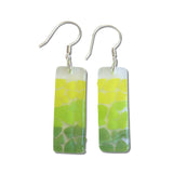 Picado Glass Earrings - Lime Green