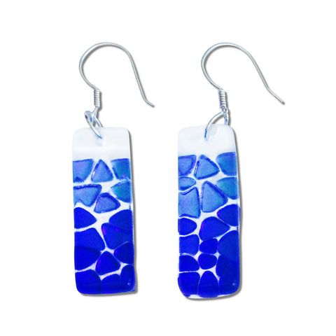Picado Glass Earrings - Navy
