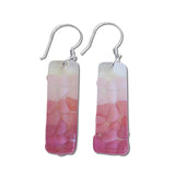 Picado Glass Earrings - Purple