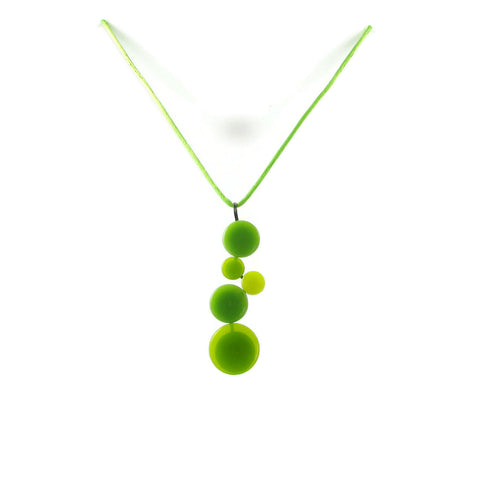 POP! Glass Necklace - Lime Green