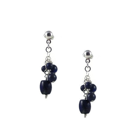 Racimo Earrings - Lapis Lazuli
