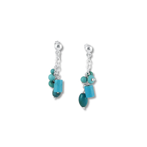 Racimo Earrings - Turquoise