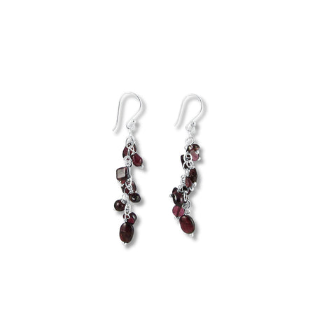 Cascade Garnet Earrings