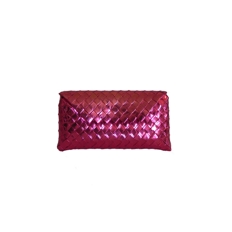 Recycled Candy Wrapper Clutch - Metallic Pink