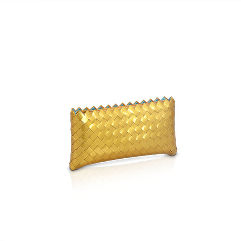 Recycled Candy Wrapper Clutch - Gold