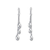 Triple Drops Pendulum Earrings