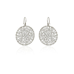Pure Silver (.999) Wire Circle Earrings