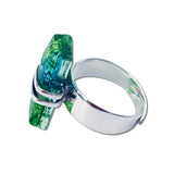 Wrap Blown Glass Ring - Green