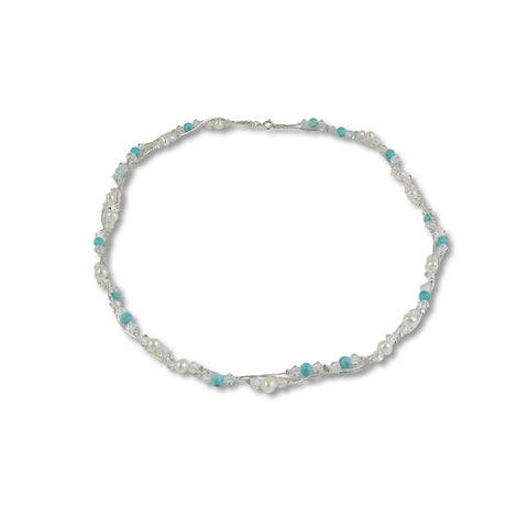 Xuxek Necklace - Pearls & Turquoise
