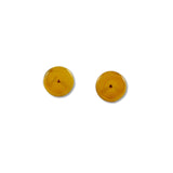Glass Circle Studs - Orange