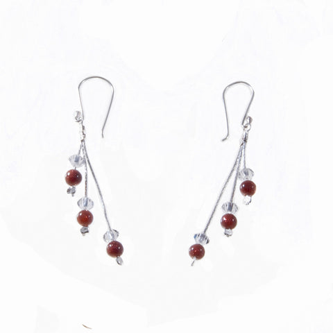 Xuxek Earrings - Coral
