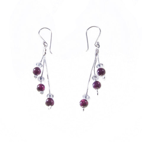 Xuxek Earrings - Garnet