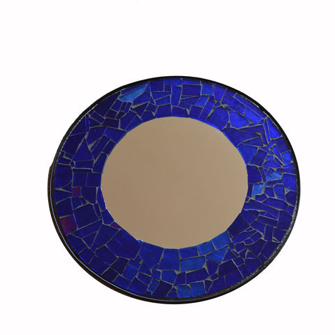 Round Mosaic Glass Mirror