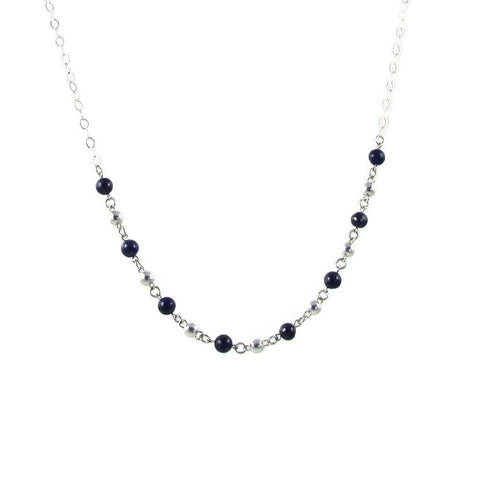Bolitas Gemstone Necklace - Pearls