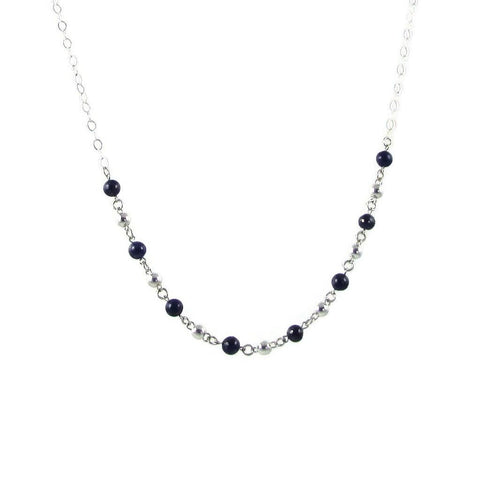 Bolitas Gemstone Necklace - Black Onyx