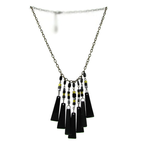 Cascada Triangles Necklace - Black