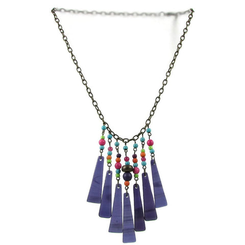Cascada Triangles Necklace - Purple