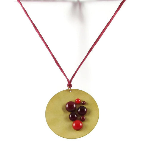 Cazuela Necklace - Red