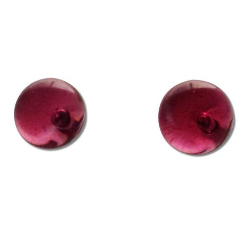 Glass Ball Studs -Cherry